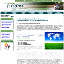Redefining Progress - About Sustainable Economics