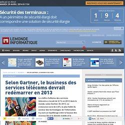 Selon Gartner, le business des services télécoms devrait redémarrer en 2013