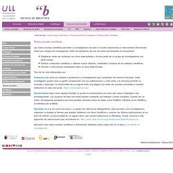 Redes sociales científicas (ULL)
