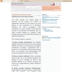 Las Redes Sociales: Clasificacion de las Redes Sociales