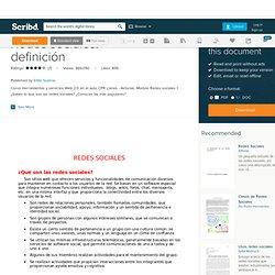 Redes sociales: definición
