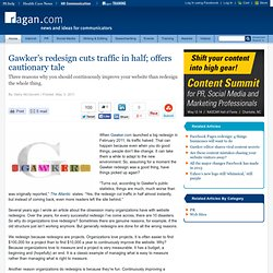Gawker's redesign cuts traffic in half