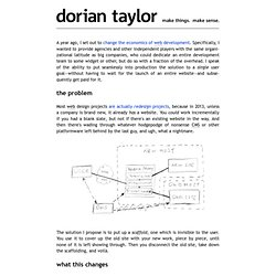 The Redesign, Dissolved — Dorian Taylor