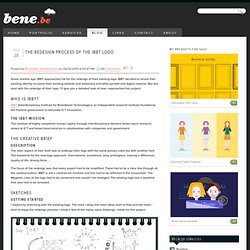 The redesign process of the IBBT logo - Blog - Bene