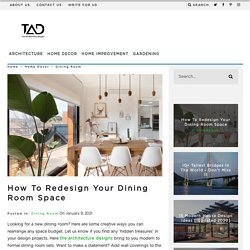 How to Redesign Your Dining Room Space