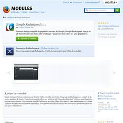 Google Redesigned :: Modules pour Firefox