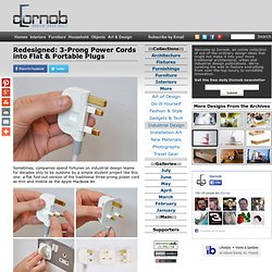 Redesigned: 3-Prong Power Cords into Flat & Portable Plugs | Designs &Ideas on Dornob - StumbleUpon
