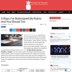 5 Ways I've Redesigned My Rubric And You Should Too
