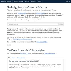 Redesigning the Country Selector - Labs