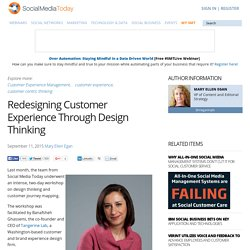 Redesigning Customer Experience Through Design Thinking
