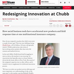 Redesigning Innovation at Chubb | MIT Sloan Management Review