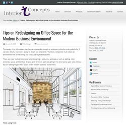 Tips on Redesigning An Office Space - Interior Concepts