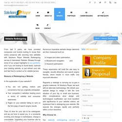 Website Redesigning in Islamabad, Pakistan