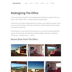 Redesigning The Office — David McKinney