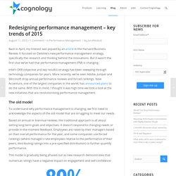 Redesigning performance management - key trends of 2015