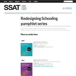 Redesigning Schooling – pamphlet series