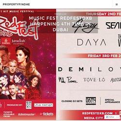 Music Fest Redfestdxb Happening 4th Time In Dubai – propertyfindae