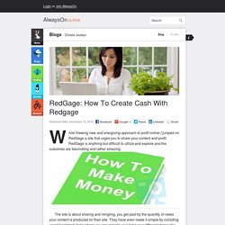 RedGage: How To Create Cash With Redgage