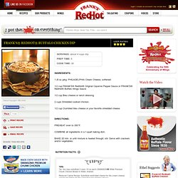 FRANK'S® REDHOT® BUFFALO CHICKEN DIP Recipe