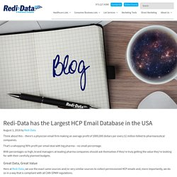 Redi-Data has the Largest HCP Email Database in the USA