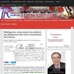Rédigeons, nous aussi, les cahiers de doléances des non musulmans de France