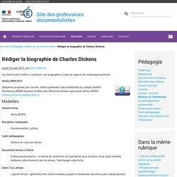 Rédiger la biographie de Charles Dickens