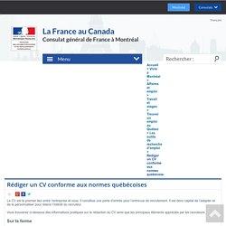 Rédiger un CV conforme aux normes québécoises