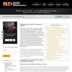 Rédiger pour le web – Les fondamentaux du blog