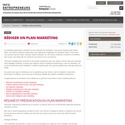Rédiger un plan marketing