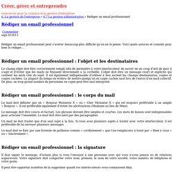 Rédiger un email professionnel