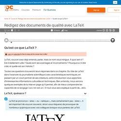 Qu'est-ce que LaTeX ? - Rédigez des documents de qualité avec LaTeX