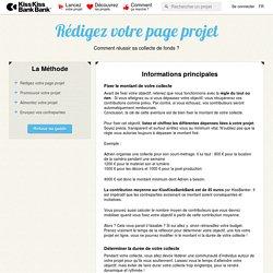 Rédigez votre page projet