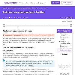 Rédigez vos premiers tweets - Animez une communauté Twitter