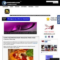 Redimensionar imagens para web