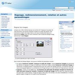 Rognage, redimensionnement, rotation et autres paramétrages
