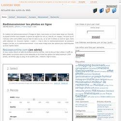 Redimensionner les photos en ligne : 7 sevice en ligne