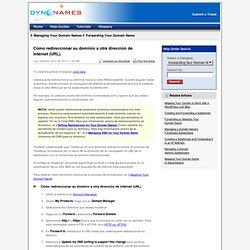 Cómo redireccionar su dominio a otra dirección de Internet(URL).