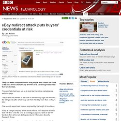 eBay redirect attack puts buyers' credentials at risk