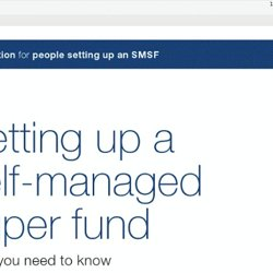 Setting up a self-managed super fund