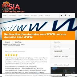 Redirection d'un domaine sans WWW. vers un domaine avec WWW.