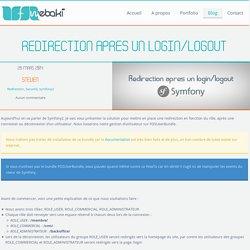 Redirection après un login/logout en fonction du rôle