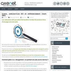 Liens, redirection 301 et référencement (test SEO)