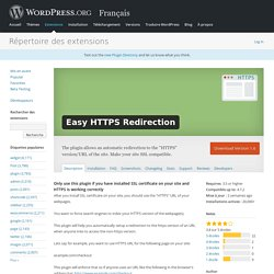 Easy HTTPS Redirection — WordPress Plugins