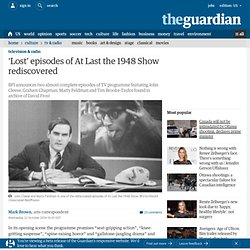 'Lost' episodes of At Last the 1948 Show rediscovered