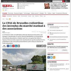 Le CPAS de Bruxelles redistribue des invendus du marché matinal à des associations