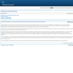 PARLEMENT EUROPEEN - Réponse à question P-006780/2012 Redistribution par les grandes surfaces des invendus alimentaires encore c