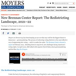 New Brennan Center Report: The Redistricting Landscape, 2021–22