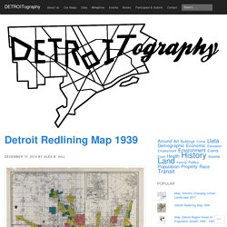 Detroit Redlining Map 1939