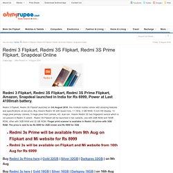 Redmi 3S, 3S Prime Flipkart, Snapdeal - Online