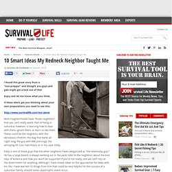 10 Smart Ideas My Redneck Neighbor Taught Me - Online Survival Blog & Survival News